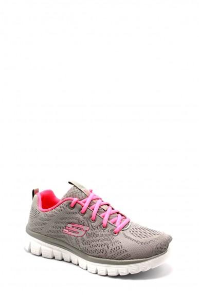 Skechers Sneakers F.gomma 36-41 12615 Donna Grigio Casual