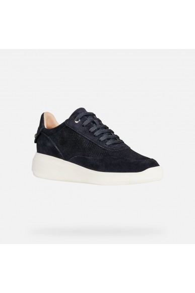 Geox Sneakers F.gomma D rubidia a - suede Donna Blu Casual