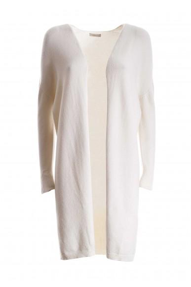 Fracomina Cardigan   8066 long cardigan butter Donna Bianco Fashion