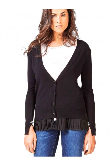 Guess Maglie   Ls cardi betsy sweater Donna Nero Fashion