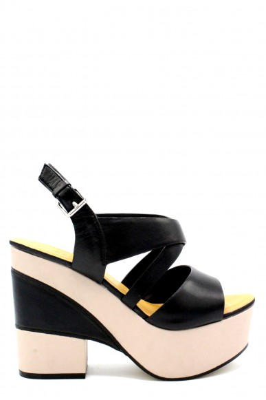 Elvio zanon Sandali F.gomma 36/41 h6303n made in italy Donna Nero Fashion