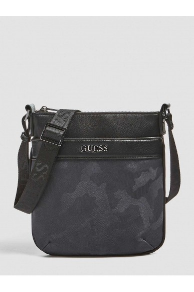 Guess Tracolle   City mini flat crossbody Uomo Nero Fashion