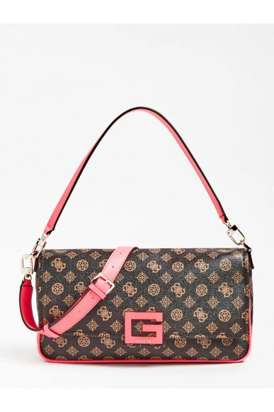 Guess Tracolle   Brightside large shoulder bag Donna Marrone Fashion