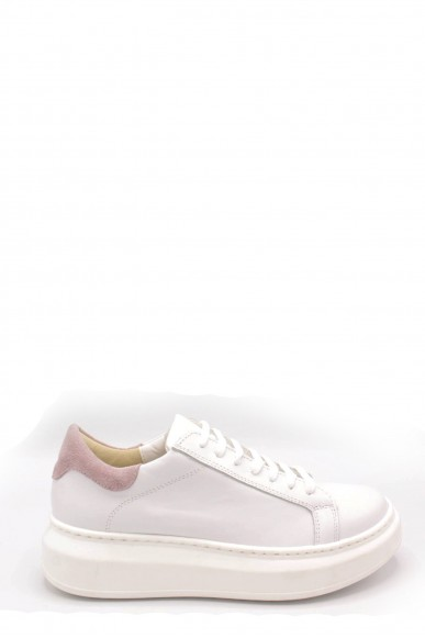 Nicole Sneakers F.gomma 36/40 platform made in italy Donna Bianco-rosa Fashion