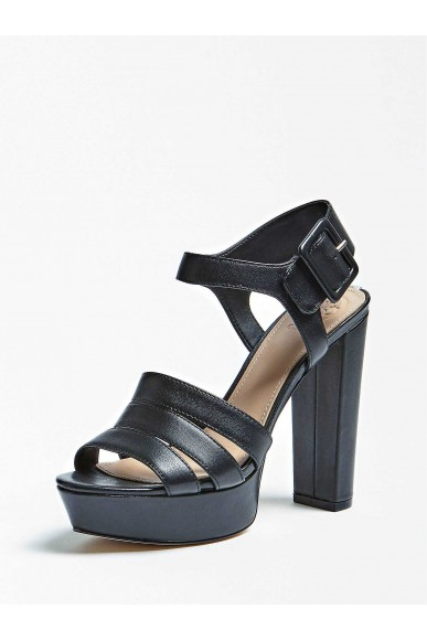 Guess Sandali   Lylah sandalo (sandal) leather Donna Nero Fashion