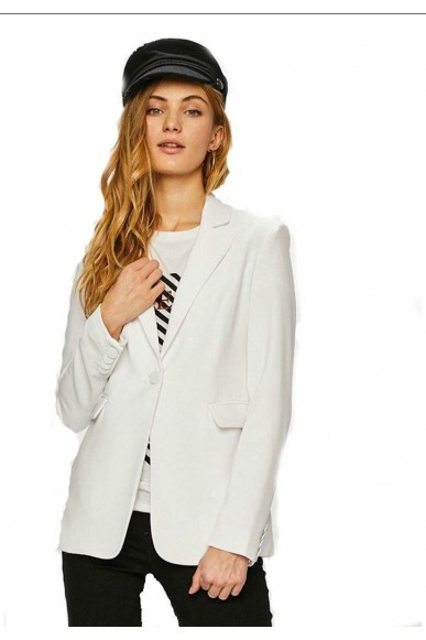 Guess Giacche   Katy blazer Donna Bianco Fashion