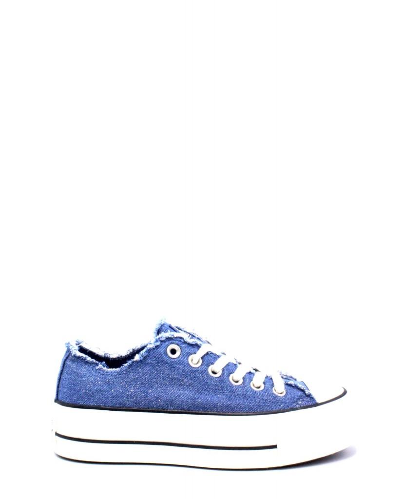 Converse Sneakers F.gomma 35/40 chuck taylor jeans platform Donna Blu Sportivo