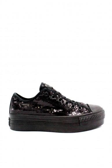 Converse Sneakers F.gomma 35/41 chuck taylors platform ox Donna Nero Sportivo