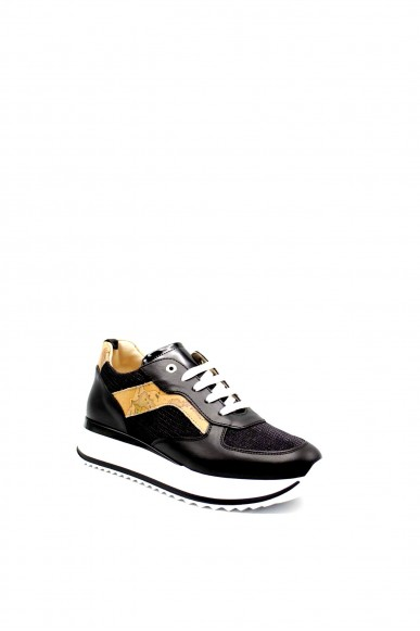 1^classe  Sneakers F.gomma 0926 Donna Nero Fashion