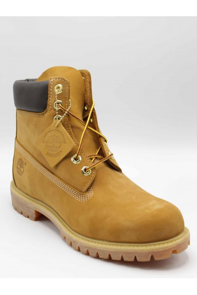 Timberland Stivaletti F.gomma Af 6in prem bt wheat yellow Uomo Giallo Casual