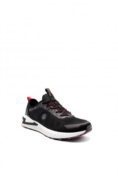 Lumberjack Sneakers F.gomma Knitwear Uomo Nero Sportivo