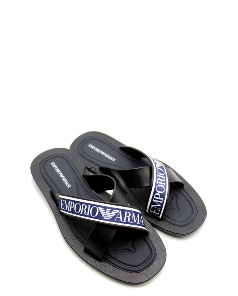 half off 92205 8afd6 Emporio armani Sandali Uomo Blu-bianco Fashion