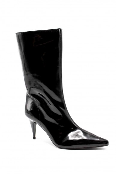 Jeffrey campbell Tronchetti   Pixies leather black Donna Nero Fashion