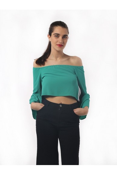 Happiness Maglie S-l Donna Verde
