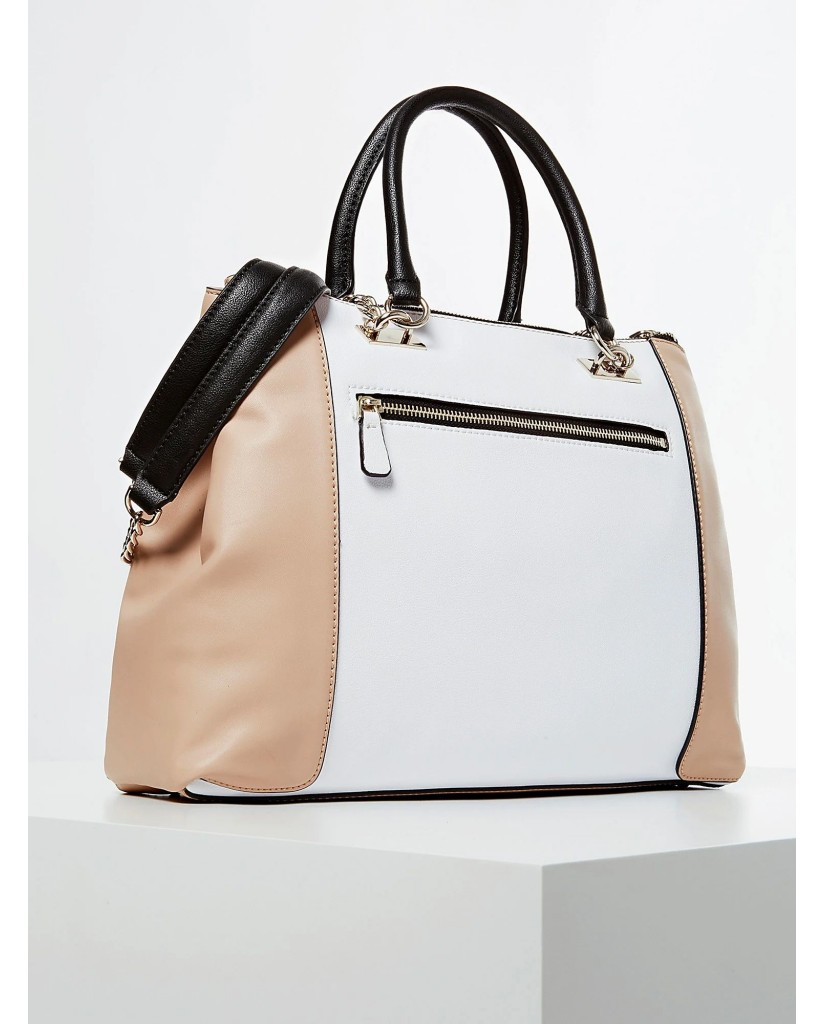 Guess Borse   Holly society luxe carryall Donna Bianco Fashion