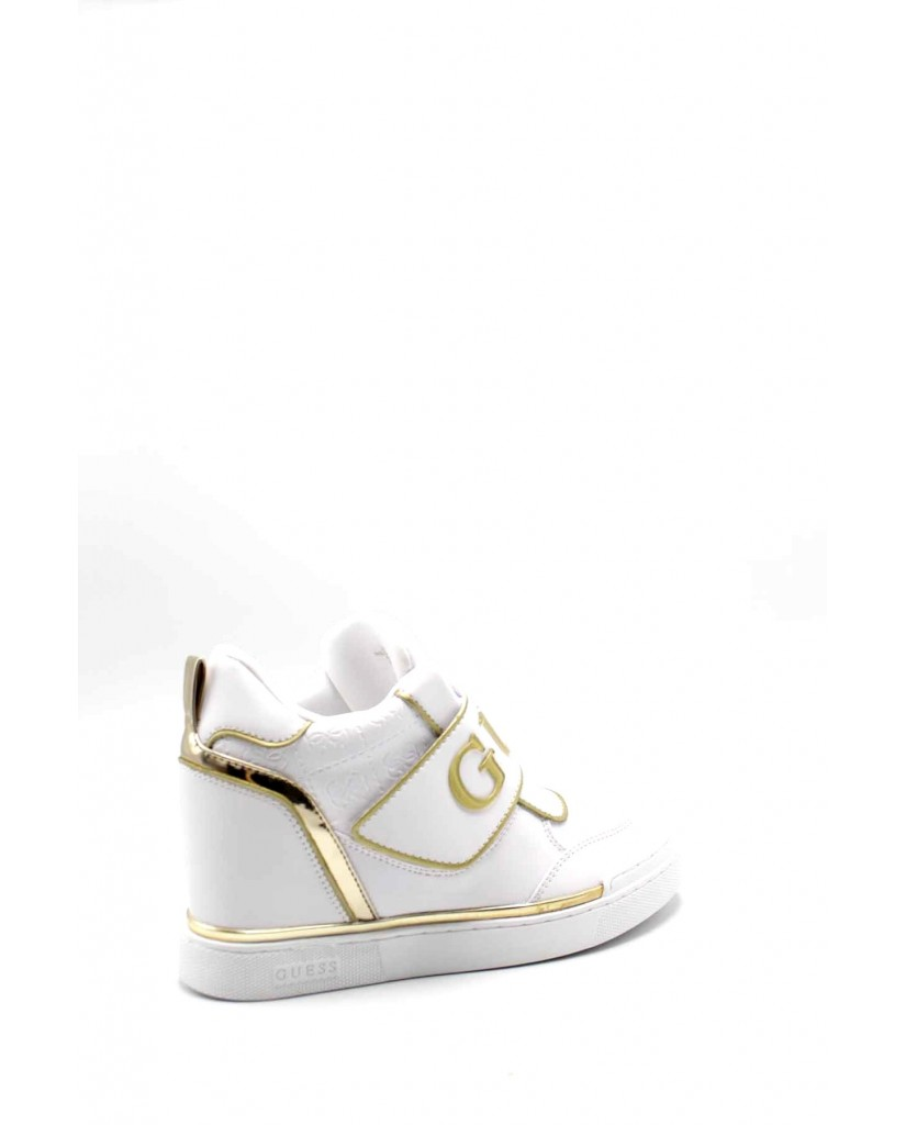 Guess Sneakers F.gomma Follie/stivaletto (bootie)/lea Donna Bianco Fashion