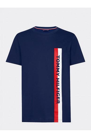 Tommy hilfiger T-shirt   Crew neck tee Uomo Blu Fashion
