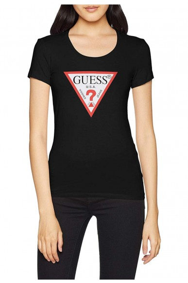 Guess T-shirt   Ss rn original tee Donna Nero Fashion