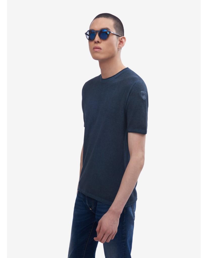 Blauer T-shirt   Maglieria girocollo Uomo Blu Fashion