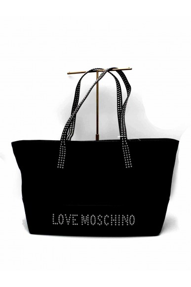 Moschino Borse   Shopping bag grain Donna Argento Fashion