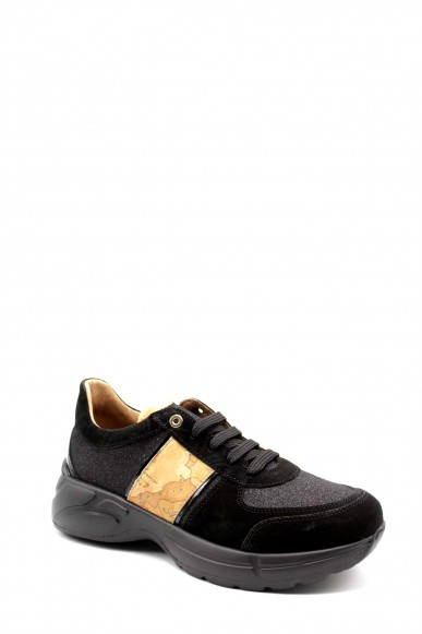 1^classe  Sneakers F.gomma Snakers 1 classe Donna Nero Fashion