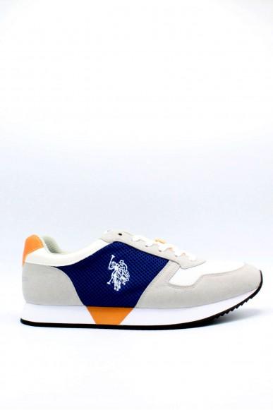 Us polo Sneakers F.gomma 40/45 rex Uomo Bianco-blu Fashion