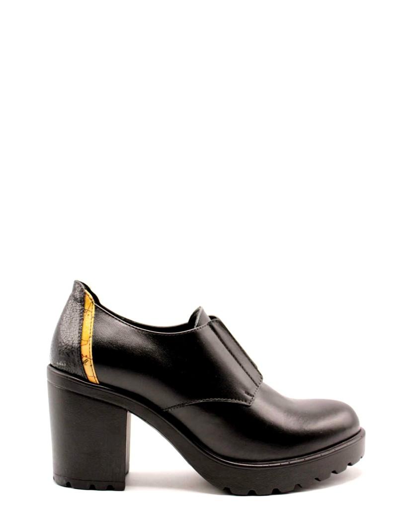 1^classe  Tronchetti F.gomma Derby c/elastico h80 Donna Nero Fashion