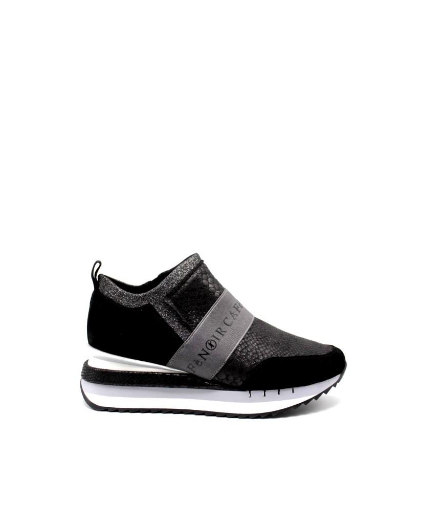Cafe' noir Sneakers F.gomma Sneaker slipon con elastico Donna Nero Fashion