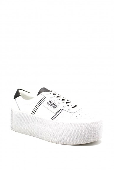 Versace couture Sneakers F.gomma Leather Donna Bianco Fashion
