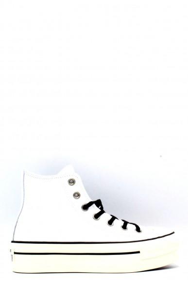 Converse Sneakers F.gomma 35/40 platform chuck taylor Donna Bianco-nero Sportivo