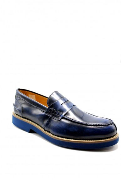 Exton Mocassini F.gomma 40/45 2102 made in italy Uomo Blu Fashion