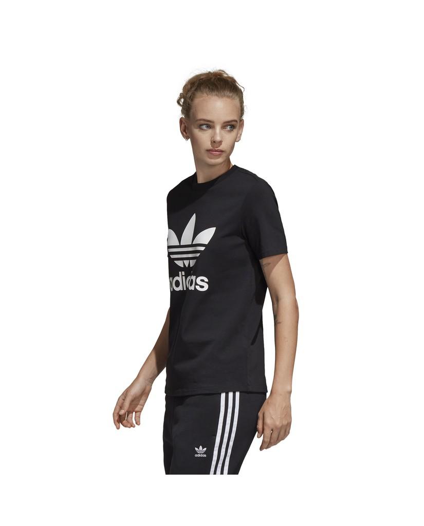 Adidas T-shirt   Trefoil tee Donna Nero Streetwear