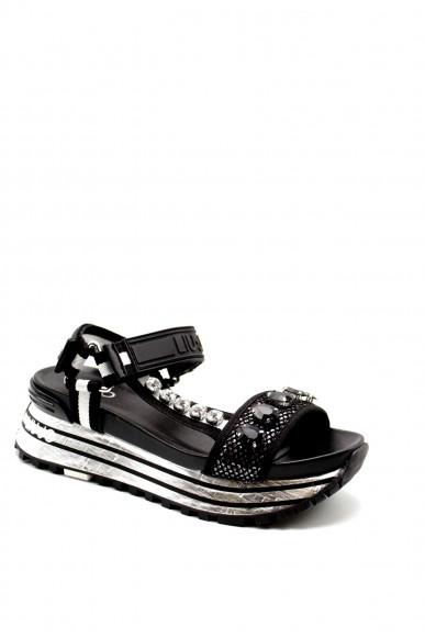 Liu.jo Sandali F.gomma Liujo maxi wonder sandal 10 - sanda Donna Nero Fashion