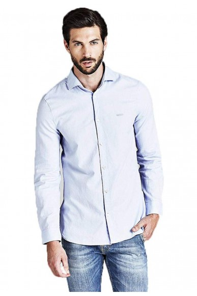 Guess Camicie   Ls alameda shirt Uomo Blu Fashion