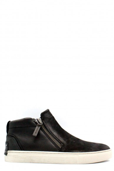 Crime Slip-on F.gomma 40-45 made in italy Uomo Nero Fashion