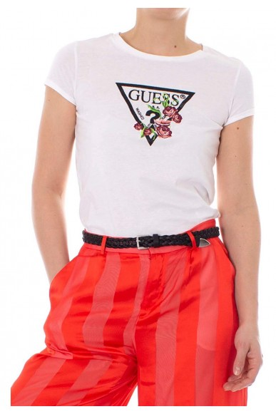 Guess T-shirt   Ss cn foliage tee Donna Bianco Fashion