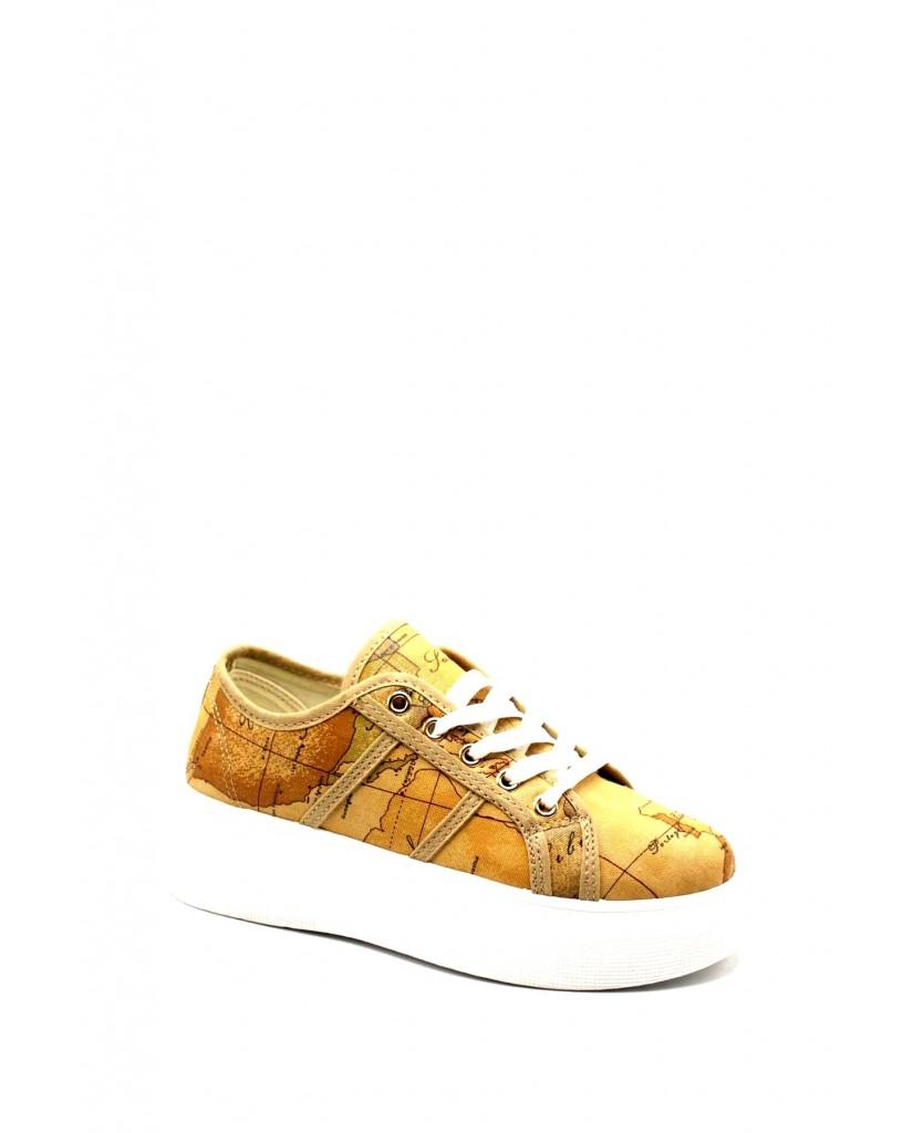 1^classe  Sneakers F.gomma Sneaker fondo alto Donna Naturale Fashion