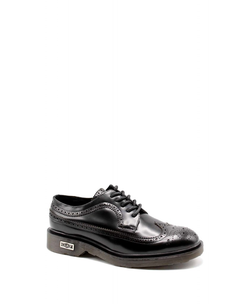 Cult Duilio   Ozzy 414 low m brushed leather blac Uomo Nero Fashion